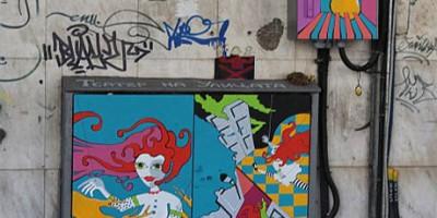 Креативност - Изрисувани ел табла в София