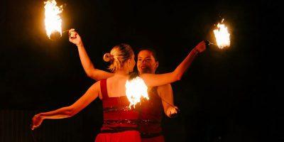 Огнено шоу в София