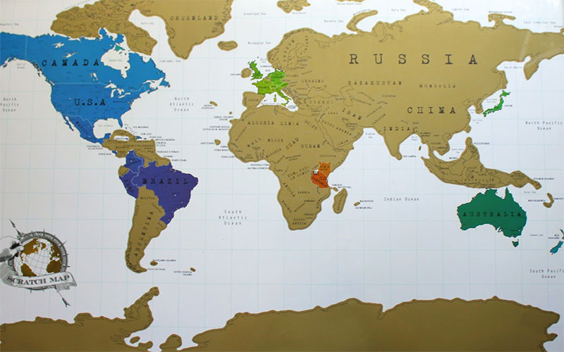 Световна скреч карта